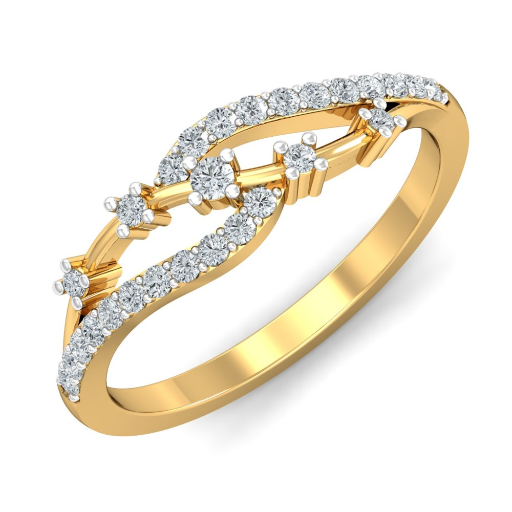 Beautiful Diamond Bands: Parshva Jewels' Beautiful Diamond Ring For Her