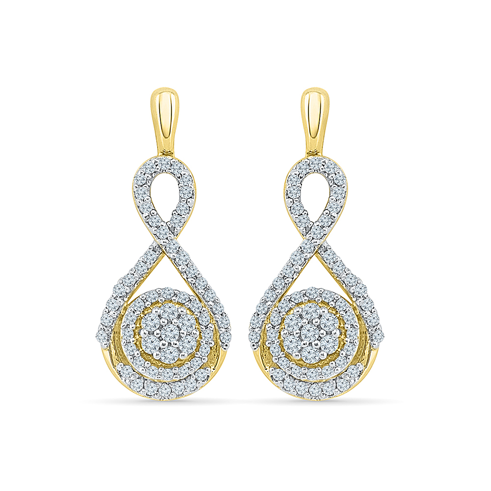 pop paisley online jivaana chandbaali by product chand gota work blue earrings bali at buy