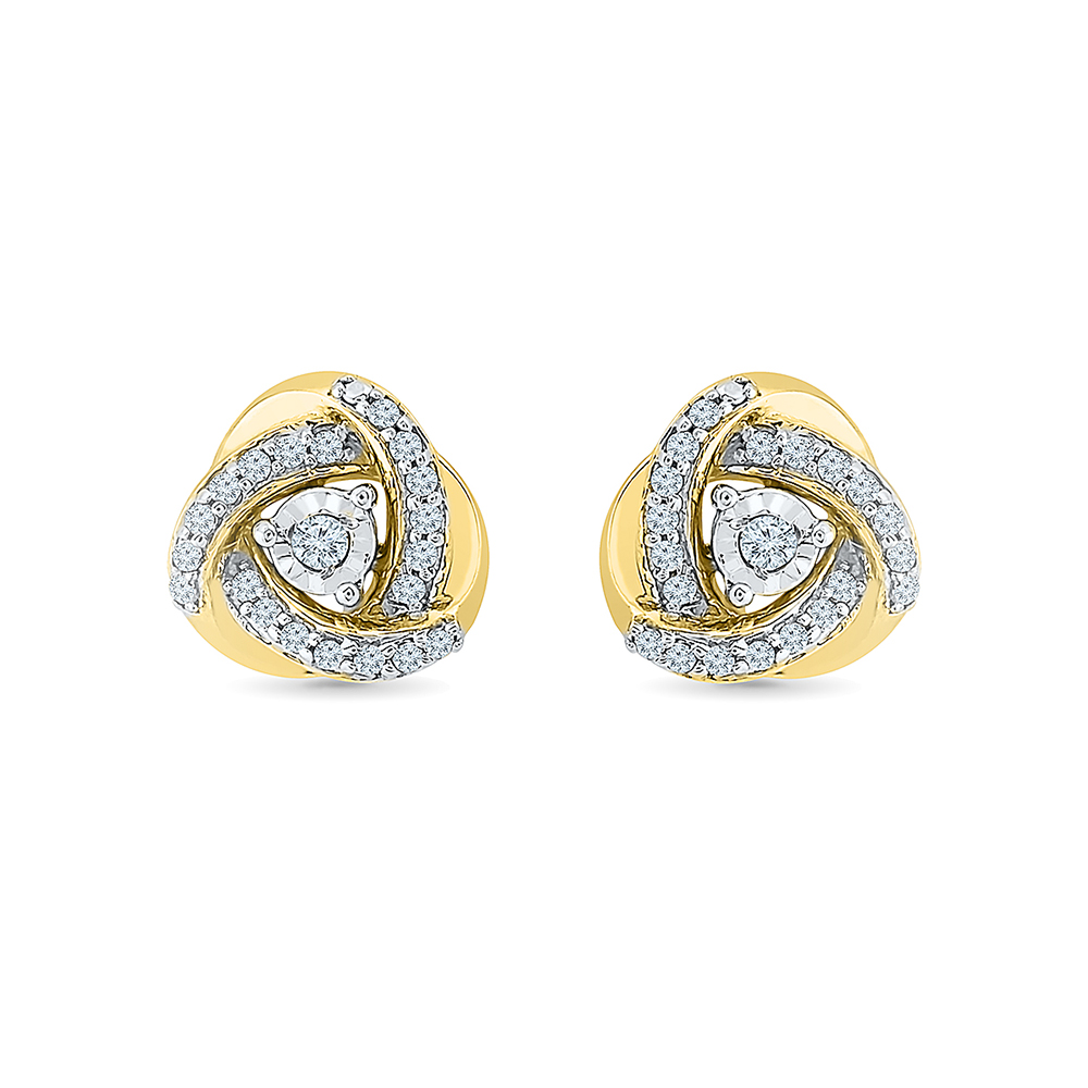 in love wrapped gold white p earrings diamond