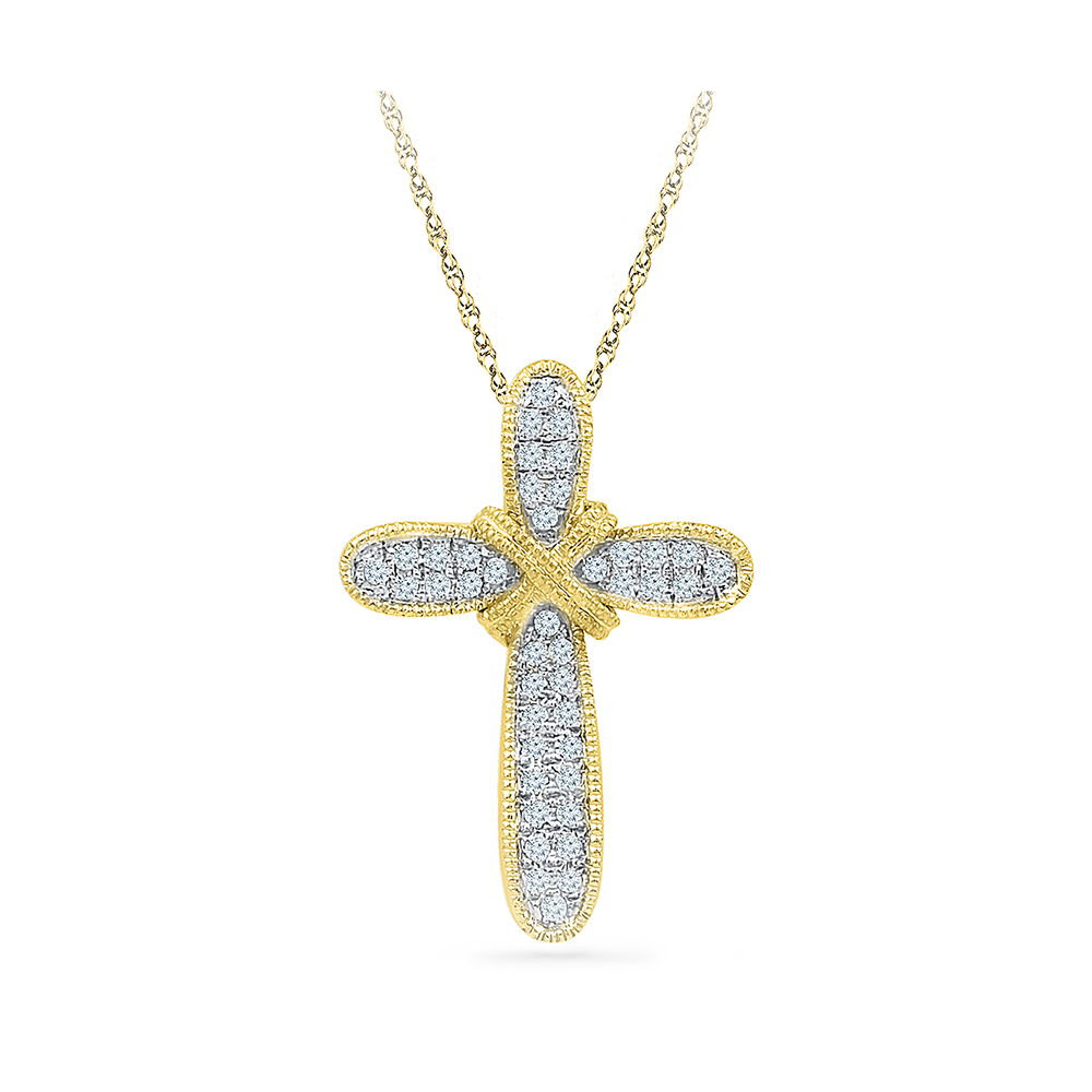 This beautiful pendant holds 42 diamonds with a total diamond weight radiant bays medieval cross pendant in 14kt white gold mozeypictures Gallery