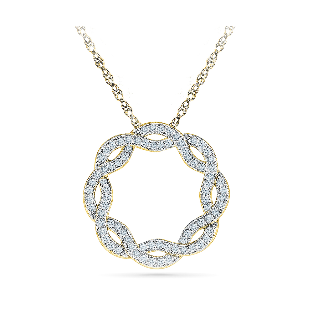 This beautiful pendant holds 80 diamonds with a total diamond weight radiant bays abstract diamond pendant in 14kt white gold aloadofball Choice Image