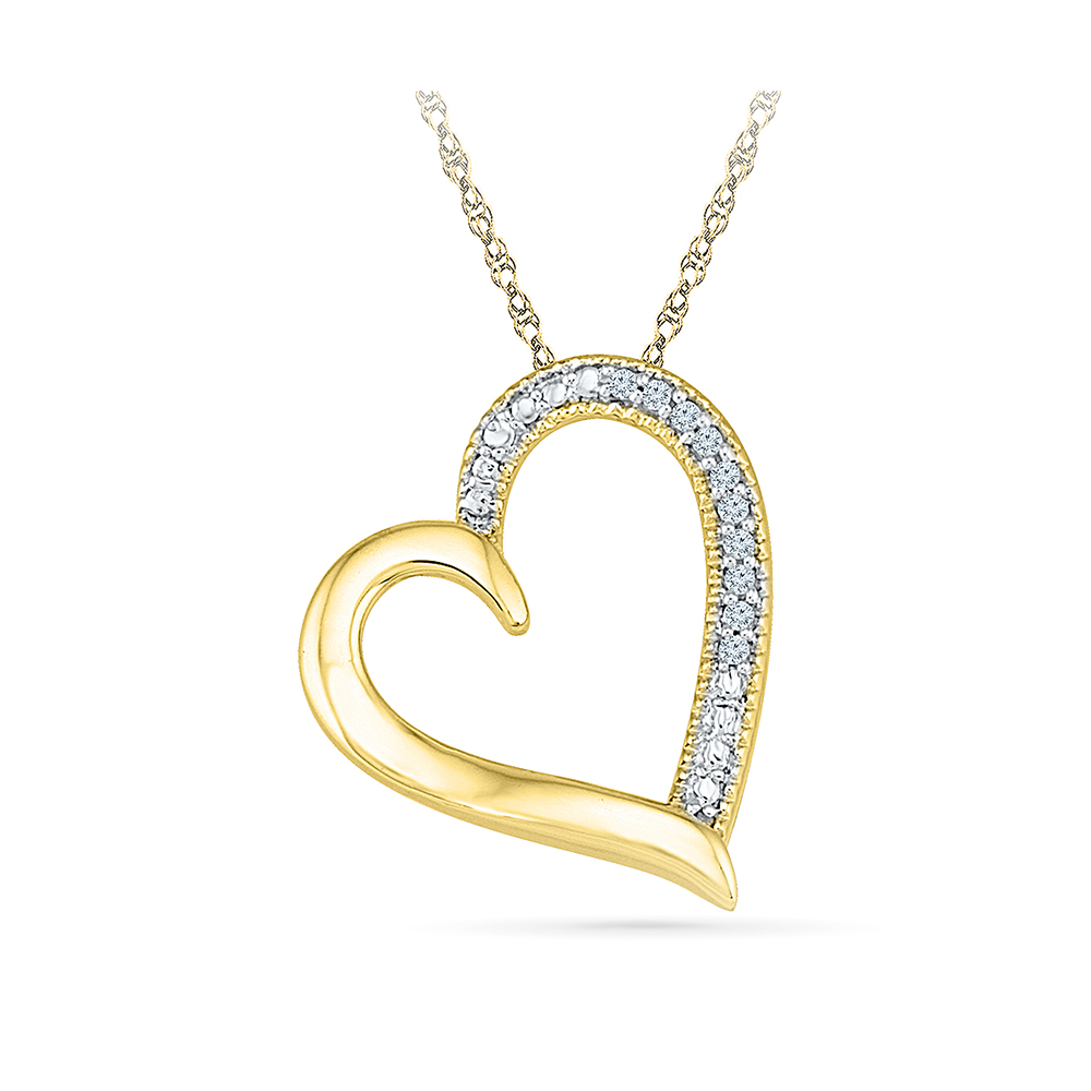 This beautiful pendant holds 10 diamonds with a total diamond weight radiant bays radiant love diamond pendant in 14kt white gold aloadofball Choice Image