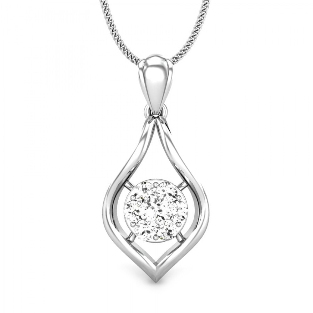 Candere by kalyan jewellers 14k bis hallmark white gold cari ziah candere by kalyan jewellers white gold cari ziah diamond pendant for women igi certified mozeypictures Image collections
