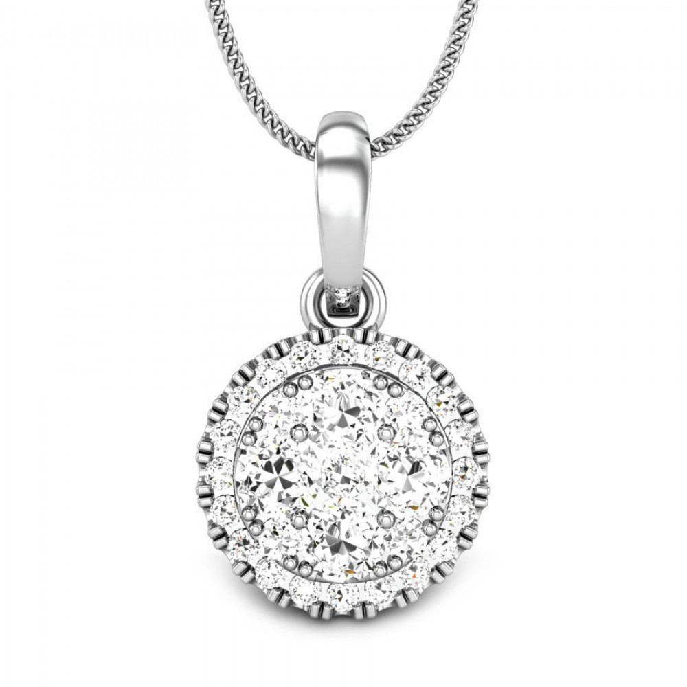 Candere by kalyan jewellers 14k bis hallmark white gold izarra candere by kalyan jewellers white gold izarra ziah diamond pendant for women igi certified mozeypictures Image collections